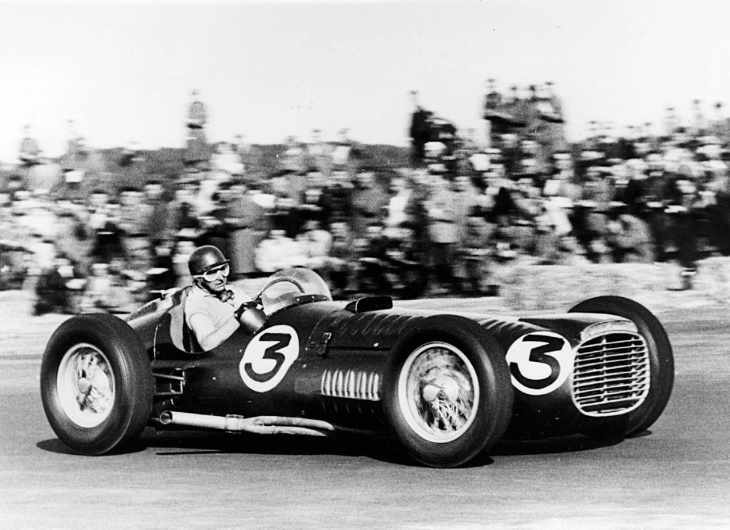 Fangio racing the P15 BRM V16 at Silverstone in 1953